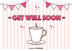"""Get Well Soon Vector Card 265306 -   Cute """"Get Well Soon"""" card – great to cheer up somebody!  - https://www.welovesolo.com/get-well-soon-vector-card/?utm_source=PN&utm_medium=weloveso80%40gmail.com&utm_campaign=SNAP%2Bfrom%2BWeLoveSoLo"""