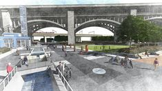 Proposed Canal Basin Park in Cleveland Ohio by Environmental Design Group