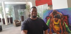 An image of the artist Dion'Jay (Dion Pollard) at one of his events in the DMV area. #blackart #virginia #maryland #washingtondc...