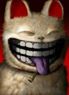 Cheshire Cat by haohaohayashi on DeviantArt Cheshire Cat Art, Famous Books, White Cats, Art File, Alice In Wonderland, Mythology, Artsy, Creatures, Deviantart