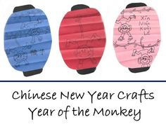 adorable lanterns -- cute printable crafts for Year of the Moneky  Year of the Monkey: Chinese New Year crafts Site with lots of crafts for kids. Children  craft  activities