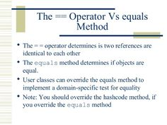Use equals to compare objects in Java