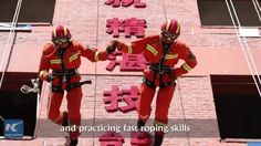 Firefighters in SW China's Yunnan get various trainings to improve their emergency response capacity. Salute!