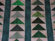 Flying geese strippy quilt
