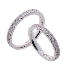 #LoveMarkPH Full Eternity Silver Couple Ring: Made of 9.25% silver. For the woman's ring, it has26 pieces of Cubic zirconia for female; while 28 pieces for men [Item code: lr0002]