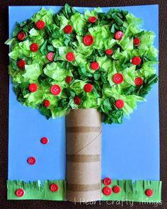 Okulöncesi Sanat ve Fen Etkinlikleri: Tuvalet Kağıdı Rulosu ile İlkbahar Ağacı