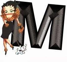 DesertRose,;;Alfabeto de Betty Boop elegante paseando al perro. | Oh my Alfabetos!,;,