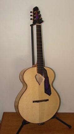 "Solomon 16"" Art Deco Modernist Acoustic Archtop Jazz Guitar w D'Angelico Strings | eBay"
