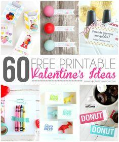 60 Free Printable Valentine's - thecraftedsparrow.com