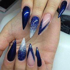 """""""Midnight Blue"""" & glitterombre (egenblandat)"""