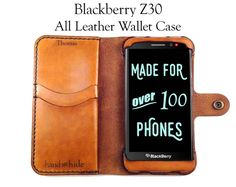 Blackberry Z30 Leather Wallet Case  No Plastic  Free