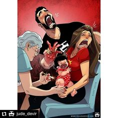#Repost @jude_devir • • • • • • Shot to the heart and nurse to blame! 😫💉💔 Shop: www.yehudadevir.com  Support us: www.patreon.com/yehudadevir  #judedevir #mayadevir #arieldevir #oneofthosedays #ilovemydaughter #ilovemywife Shiny Happy People, Relationship Comics, Relationship Goals, Relationships, Daryl Dixon, Couple Funny, Grumpy Cat, Maya Name, Shot To The Heart