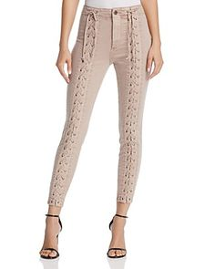 Pistola Lace-Up Skinny Jeans in Lynn You're Blushing - 100% Exclusive
