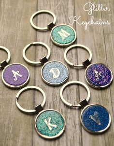 Easy Glitter Keychains made with Dimensional Magic