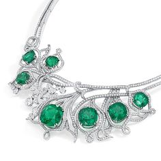 Boodles green fire necklace