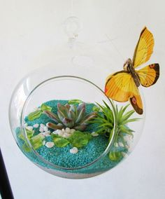 Four Seasons Flowers - We love adding butterflies to our orbs.