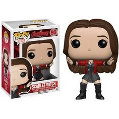 This is the Avengers Age of Ultron Scarlet Witch POP Vinyl Figure. It's so cool to see the Scarlet Witch in Funko POP Vinyl form. The newest Avengers movie Age of Ultron was fantastic, and it was grea Funko Pop Marvel, Ms Marvel, Marvel Comics, Poster Marvel, The Avengers, Scarlet Witch Avengers, Avengers Movies, Age Of Ultron, Pop Vinyl Figures