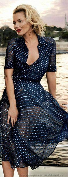 vestido de gasa con lunares