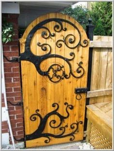 Swirly swirly garden door!