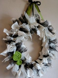 rag wreath tutorial