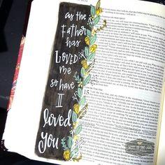 John 15:19 - Bible Journaling - Love - Soul Inspired