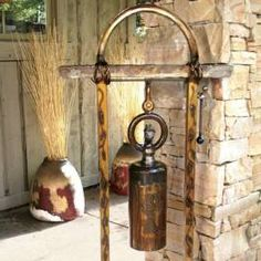 Beautiful rustic bell from Phoenix Home & Garden Magazine