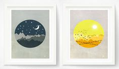 Hey, I found this really awesome Etsy listing at https://www.etsy.com/listing/198055418/sun-moon-nursery-wall-art-print-white