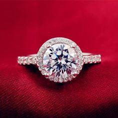 White Gold Filled Cz Engagement/Wedding Ring