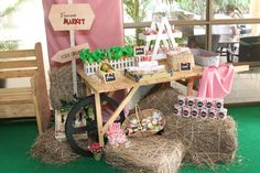 Barnyard Party. Baby dessert table.