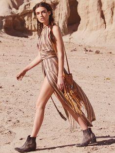 New Romantics Tuscan Sun Maxi Top | In a lightweight cotton/linen blend this…