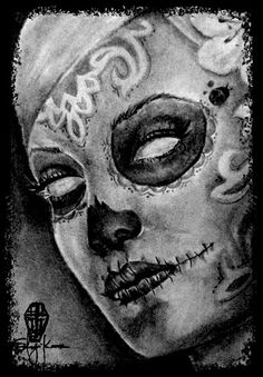 Sweet Sorrow  All Rights Reserved By Shauna Fujikawa Hope Tattoos and Art - Sugar Skull