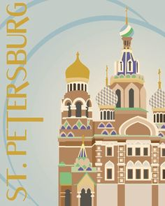 City Poster: St. Petersburg on Behance