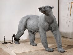Polar Bear - studio (Historic Royal Palaces Commission Steel armature & painted galvanised wire - unique x x in Animal Sculptures, Sculpture Art, Wire Sculptures, Photomontage, Caricatures, Collages, Grandeur Nature, Royal College Of Art, Contemporary Photographers