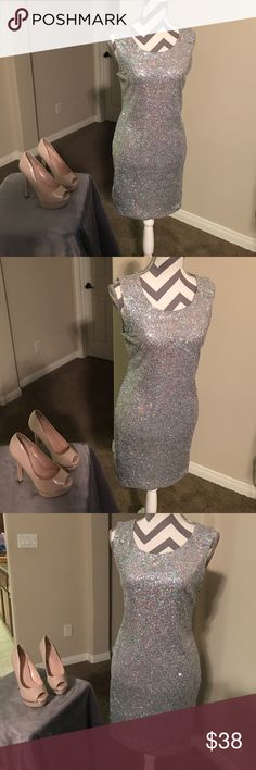 New Candies Silver Sequence Dress XL New Candies Silver Sequence Dress XL ! Sexy and perfect and just in time for the holidays!!! 😍👍🎉❤️💕 Candie's Dresses Mini