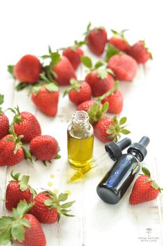 We combined our gorgeous cold-pressed Strawberry Seed Oil with a blend of Organic Camellia and Evening Primrose Oils to soothe, condition, and revitalize the skin. Make this simple facial serum recipe at home with a handful of natural ingredients. Primrose Oil, Evening Primrose, Strawberry Seed, Raspberry, Infused Oils, Facial Serum, Seed Oil, Diy Beauty, Herbalism
