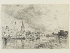A view of Abingdon from the river, John Constable, 1821