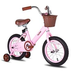 JoyStar 14 16 Inch Vintage Kids Bike for Girls with Front Basket Coaster Brake Kids Bicycle, Bicycle Girl, Push Bikes, Bmx Bikes, Cool Bikes, 14 Inch Kids Bike, Best Kids Bike, Bike With Training Wheels, Bicycles
