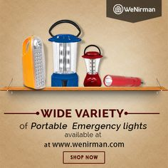 Shop for Rechargeable Emergency Lights form Havells, Ramsons & multiple brands at www.wenirman.com .