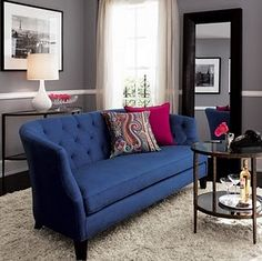 cobalt and gray room