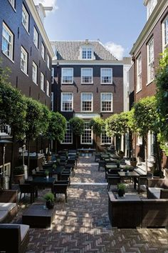 Hotel The Dylan Amsterdam - Courtyard. Now a hotel, used to be law firm Nauta van Haersolte/ worked there #goodtimes