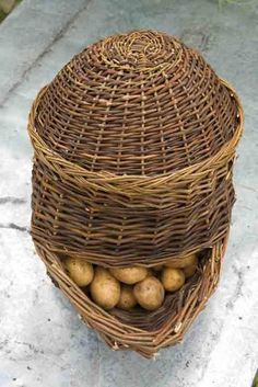 Potato Willow Basket - from sarah raven's kitchen & garden