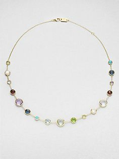 IPPOLITA Multi+Gemstone+and+18K+Yellow+Gold+Necklace