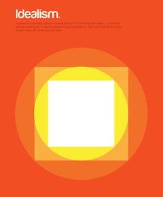 infographic posters that reduce huge philosophical ideas to shapes and colors = brilliance