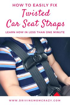 Do you have an infant car seat, convertible car seat, or forward-facing seat that gets twisted straps? Fix this most common car seat problem EASILY. This car seat hack shows you how to fix twisted straps in less than one minute! Forward Facing Car Seat, Rear Facing Car Seat, Car Seat Guidelines, Rock And Play, Best Car Seats, Baby Swings, Baby Safety, Child Safety, Newborn Care