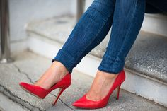 Red shoes http://monasdailystyle.fitfashion.fi/2015/03/01/tartan/