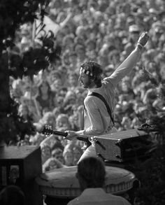 Pete Townshend plays in front of the crowd at the Oct. 9-10, 1976, Day on the Green at the Oakland Coliseum.