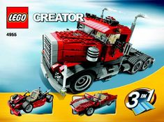 Thousands of complete step-by-step printable older LEGO® instructions for free. Here you can find step by step instructions for most LEGO® sets. Lego Creator Sets, The Creator, Lego Boxes, Lego Truck, Lego Design, Lego Instructions, Lego Creations, Lego Sets, Rigs