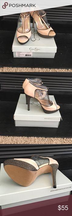 Jessica Simpson Summer Haze NEVER WORN beautiful T-Strap platform heels!5 inch heel with 1.25 platform! *FLASH SALE* Jessica Simpson Shoes Platforms