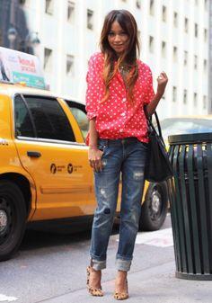 Polka dot shirts :)