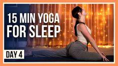 15 min Yoga for Sleep – Day #4 (EVENING YOGA FLOW) Yin Yoga, Yoga Meditation, Yoga Youtube, Vinyasa Yoga, Yoga Flow, Yoga Challenge, Best Yoga, Yoga For Beginners, Life Inspiration